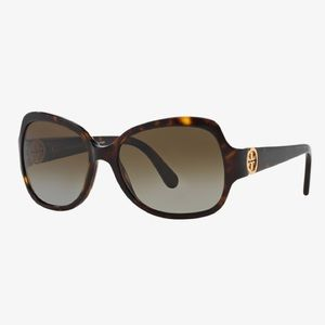 Tory Burch Tortoise Brown Polarized Sunglasses